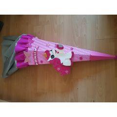 Mädchen  Fertige Schultüte oder Bastel-Set Pferd oder Einhorn mit Schmetterling  in Handarbeit für Sie hergest