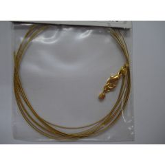 Nyloncoated-Collier goldfarben , 3 reihig