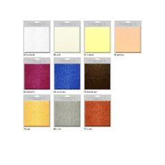 Grußkarten-Set Starlight mit Metalliceffekt kupfer 16 x 16 cm