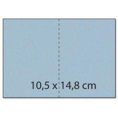 Karte / Umschlag C6  Rechteck perlmutt blau