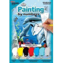 Malen nach Zahlen Delphin mini 12,7X17,8