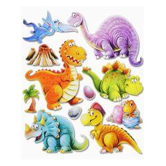 3 D Sticker Dinosaurier XXL 30x30 cm