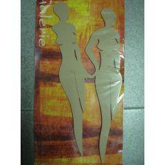 2 abstrakte schlanke Frauen MDF