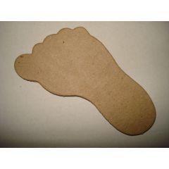 Fuß Pappe