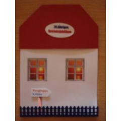 Haus als Karte Geschäftskarte   Jubiläum