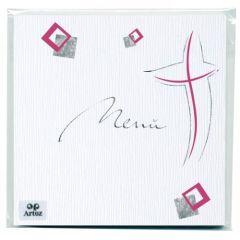 Modernes Kreuz Menü 6 Karten