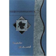 handmade Moderne Männerkarte Ahornblatt