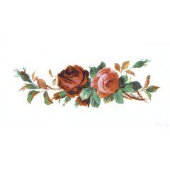 Wachsbild, SB-Btl. 1 Stück, Rose, 100x50 mm