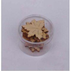 Holz Ahornblatt 30 mm ca. 8 Stück