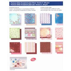 Schmetterlinge PREMIUM GLITTER SCRAPBOOK PAPIER BLOCK 12x12,VERSION 4