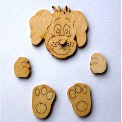 Bastel-Set Hund für Türschilder Mobiles Bilderrahmen Fotoalbum