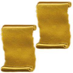 Wachsornamente 2 Schriftrollen gold