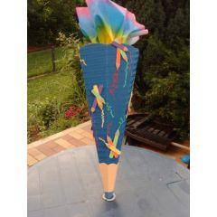 Schultütenbastel-Set Buntstift in Handarbeit für Sie hergestellt, jetzt neu mit Glittermoosgummi