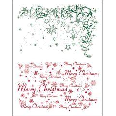 Silikon Stempel von Viva Decor Weihnachts Sterne + Merry Christmas