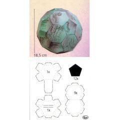 Verpackungs-Schablone Fußball ca. 18.5cm