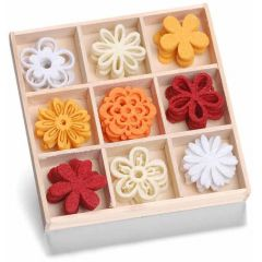 Filzbox Ornament Blume Fantasie