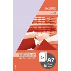 S-line A6 Karte, passendes Kuvert und Briefbogen je 5 Stück - veilchen