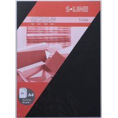 S-line A6 Karte, passendes Kuvert und Briefbogen je 5 Stück - schwarz