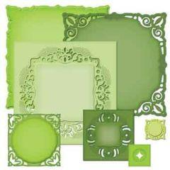 Spellbinder Nestabilities Majestic Elements S4-389 Adorning Squares