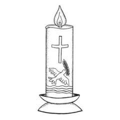 Motivstempel Kerze im Ständer