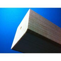 Holzsäule mit Bohrung 8x8x40 cm