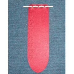 Türschal aus Filz seitlich mit Herzen ca. 44 x 13 cm