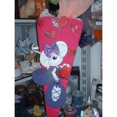 Schultüte Maus mit Ballerina Rock Bastelset oder Fertige Schultüte  in handarbeit für Sie hergestellt