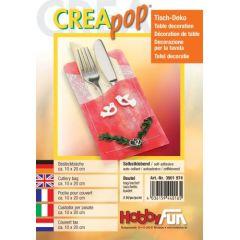 CREApop®Bestecktasche Btl.2 Stück 20x10cm