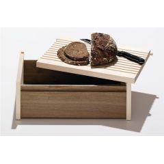 Brotkasten aus Holz mit Schneidebrett