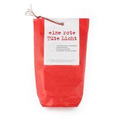 rote Lichttüten für Teelichter