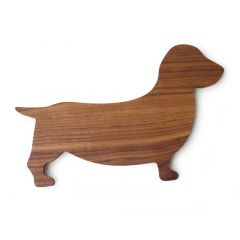 Brotzeitbrett Dackel aus Holz