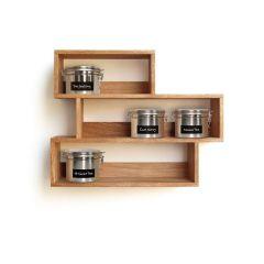 Teeregal aus Holz