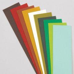 Wachsplatten, 200 x 50 x 0,5 mm, 10 Stk., Grün-Braun-Mischung