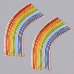 Wachsdekor, Regenbogen klein, 55 x 25 mm, 1 Stk., bunt