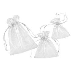CREApop® Organza-Säckchen weiß 8 x 10 cm, Beutel a 12 Stück