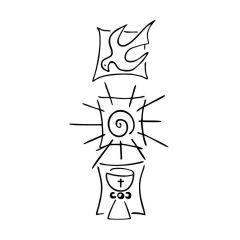 Stempel \'Taube, Sonne, Kelch\'