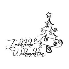 Stempel \'Fröhliche Weihnachten\'