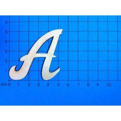 Holzbuchstaben 50mm in Schreibschrift Großbuchstaben
