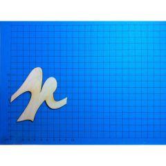ABC Holz Kleinbuchstaben Schreibschrift 150mm natur