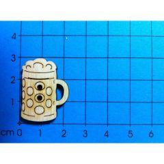 Knopf: Maßkrug mit Schaum 30 mm
