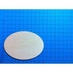 Schildertafel oval 100 mm ohne Loch