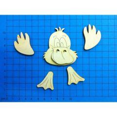 Entenkopf mit Füßen 60 mm oder 90mm