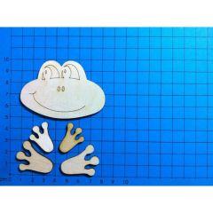 Bausatz Frosch Kopf 4x Füsse