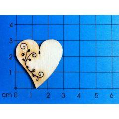 Herz mit Tribal 30mm - 150mm