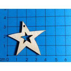 Stern mit Stern 1 Loch 40 mm
