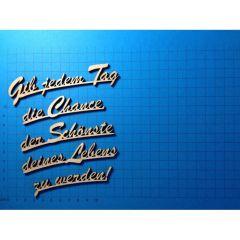 "Schriftzug Schreibschrift ""Gib jeden Tag...."" ca. 120mm oder 160 mm"