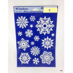 Weihnachts-Fensterdeko Bilder 20 x 30 cm Schneeflocke Glitter zum Kleben sehr coole Fensterverzierung Deko