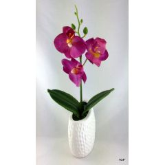 Künstliche Orchidee Deko Orchideen Kunstpflanze mit Keramiktopf
