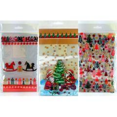 Bodenbeutel Weihnachten Geschenk Bodenbeutel Klarsichtbeutel 8 Stück 145 x 235 mm