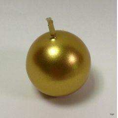 Kerzen Kugelkerzen 6,2 cm Durchmesser glänzend Farbe Gold 4er Set